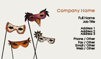 Masquerade Masks Business Card Template